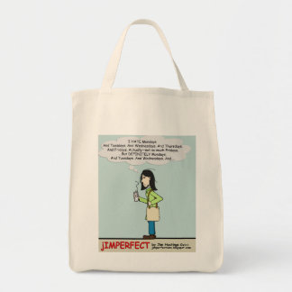 Monday Moody Momma Tote Grocery Tote Bag