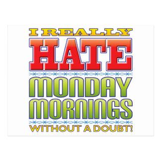Monday Mornings Hate Postcard