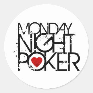 Monday Night Poker Classic Round Sticker
