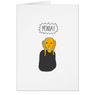 Monday Scream Card