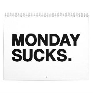 Monday sucks calendar