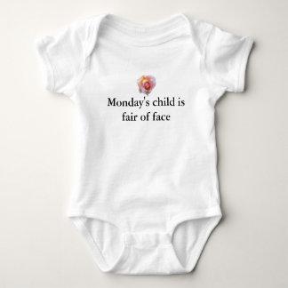 Mondays Child Baby Bodysuit