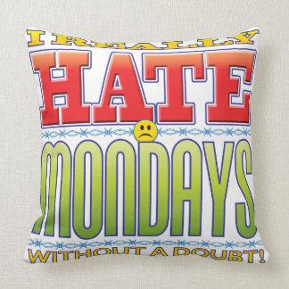 Mondays Hate Face Throw Pillow