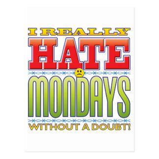 Mondays Hate Face Postcard