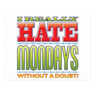 Mondays Hate Postcard