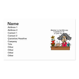 Mondays Humor Double-Sided Standard Business Cards (Pack Of 100)