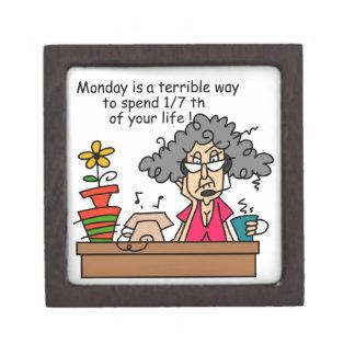 Mondays Humor Jewelry Box