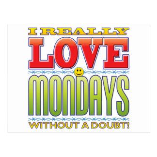 Mondays Love Face Postcard