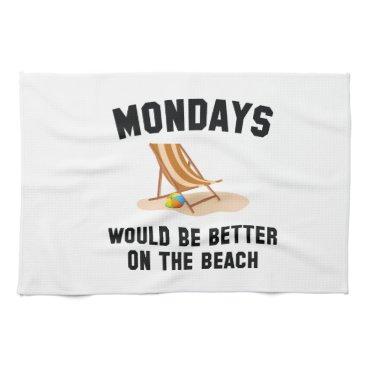 Beach Themed Mondays On The Beach Towel