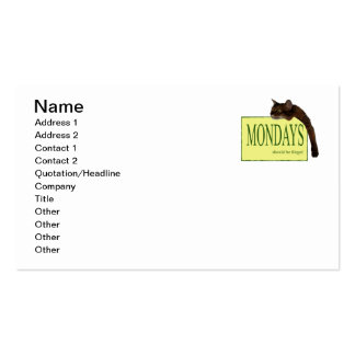 Mondays Should be Illegal Double-Sided Standard Business Cards (Pack Of 100)