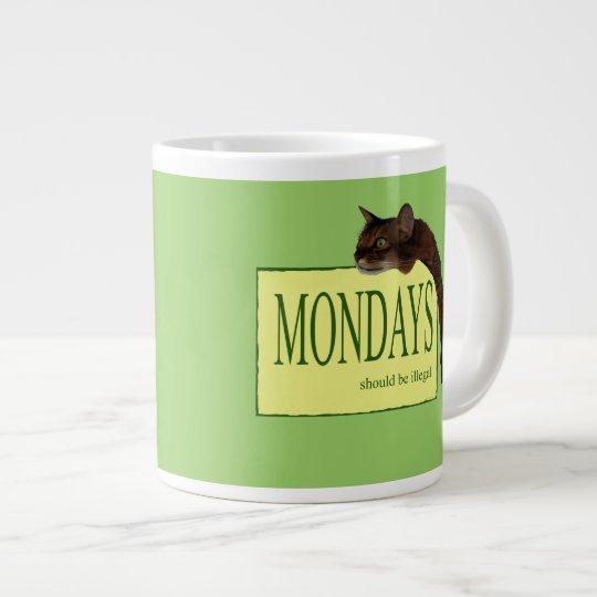 Mondays Should be Illegal Large Coffee Mug