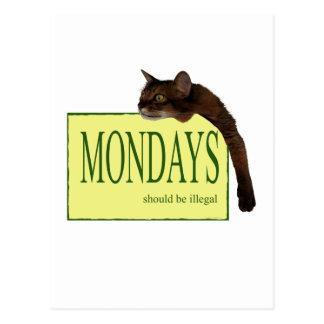 Mondays Should Be Illegal Postcard