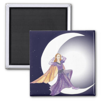 Mondfee - moon fairy 2 inch square magnet