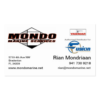 mondo updated car - rian Double-Sided standard business cards (Pack of 100)