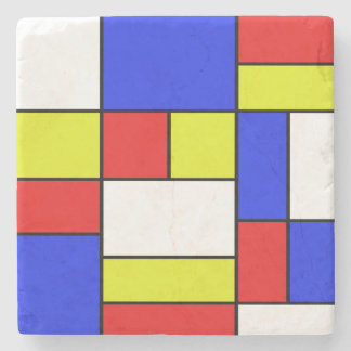 Mondriaan #19 stone coaster