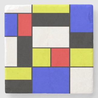 Mondriaan #20 stone coaster