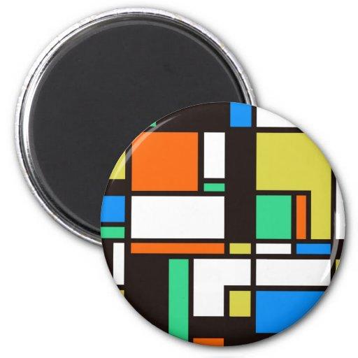mondrian3 2 inch round magnet