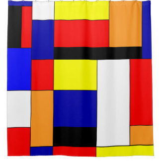 Mondrian #9 shower curtain