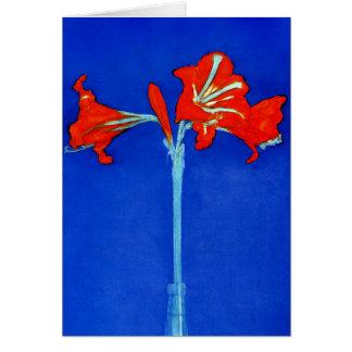 Mondrian Amaryllis Greeting Card