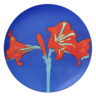 Mondrian Amaryllis Plate