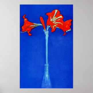 Mondrian Amaryllis Poster
