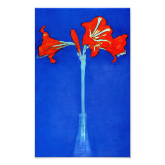 Mondrian Amaryllis Print Photo Print