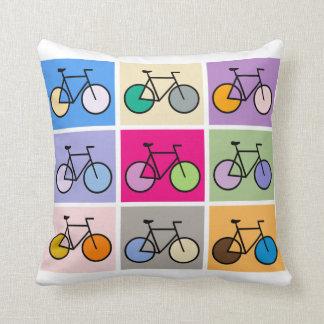 Mondrian Art Bicycle Grid Cushion Throw Pillow