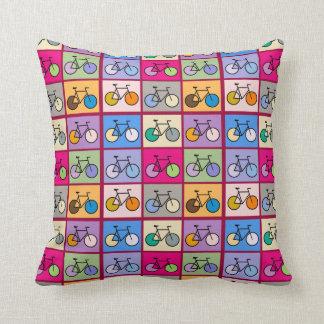 Mondrian Art Bicycle Grid Pattern Cushion Pillow