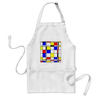 Mondrian art style adult apron