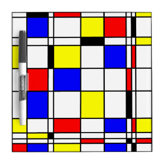 Mondrian art style Dry-Erase board