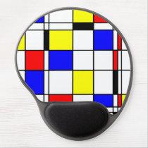Mondrian art style gel mouse pad