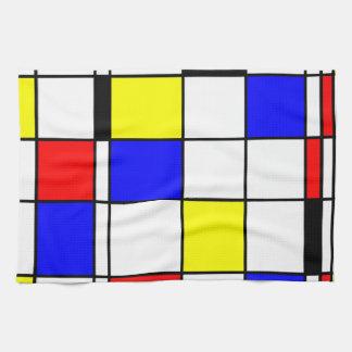 Mondrian art style kitchen towel