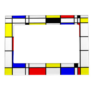 mondrian art style magnetic photo frame