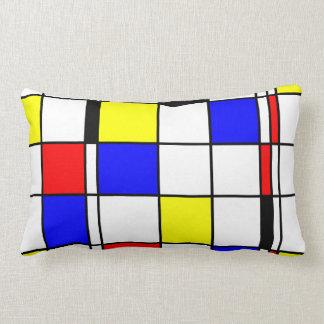 Mondrian art style throw pillow
