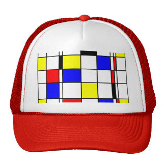 Mondrian art style trucker hat
