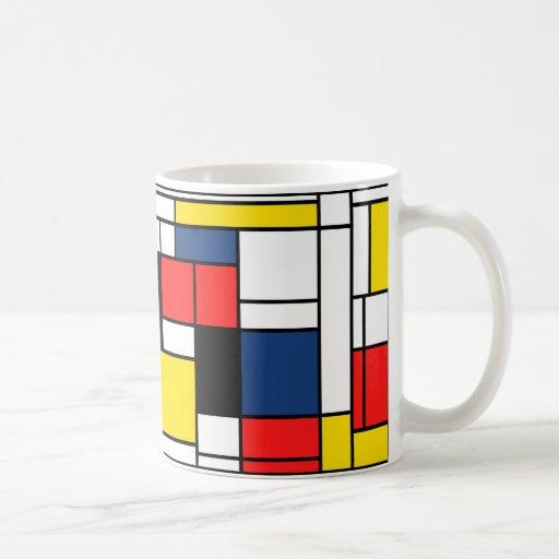 ¡Mondrian bebe aquí! Taza Clásica