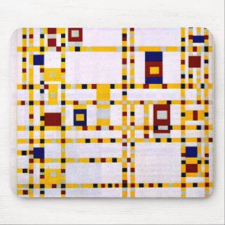 Mondrian - boogie Woogie de Broadway Alfombrillas De Ratones