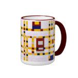 Mondrian - boogie Woogie de Broadway Taza De Dos Colores