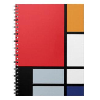 Mondrian - composición con el avión rojo grande libretas espirales
