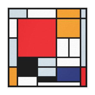 Mondrian - composición con el avión rojo grande lona envuelta para galerias