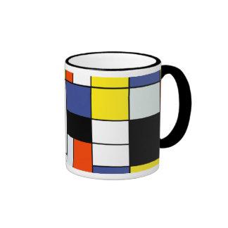 Mondrian - composición una taza