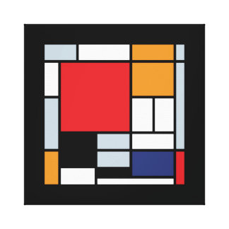 Mondrian - Composition With Large Red Plane Stretched Canvas Prints