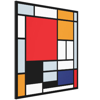 Mondrian - Composition With Large Red Plane Gallery Wrap Canvas