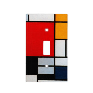 Mondrian - Composition with Large Red Plane Light Switch Covers