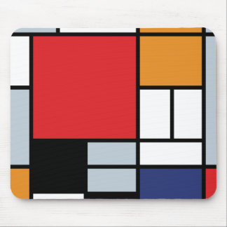 Mondrian - Composition With Large Red Plane Mouse Pads