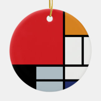 Mondrian - Composition With Large Red Plane Christmas Ornament