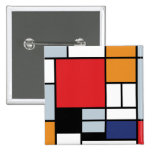 Mondrian - Composition With Large Red Plane Pin