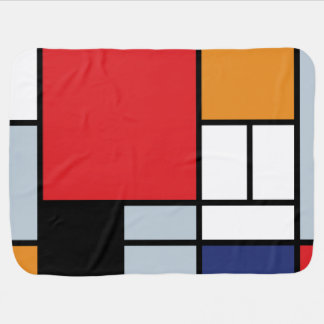 Mondrian - Composition With Large Red Plane Swaddle Blanket