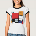 Mondrian - Composition With Large Red Plane T-Shirt