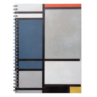 Mondrian Composition with Red, Blue, Black, Yellow Notebook